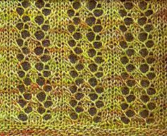 The Easy Lace Scarf - Great beginner pattern for lace knitting. Lace Knitting Patterns, Lace Patterns, Knitting Stitches, Knitting Designs, Stitch Patterns, Knitting Tutorials, Crochet Cross, Knit Or Crochet, Crochet Scarves