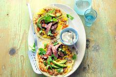 De tortilla tover je met rosé gebakken biobiefstuk om tot een super-de-luxe maaltijd - Biologisch recept - Allerhande