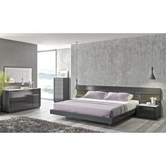 J&M Furniture Braga Platform Customizable Bedroom Set