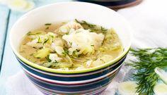 Fiskesuppe med hyse og purre