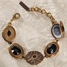 Jan Michaels Onyx Locket Bracelet