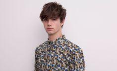 Pull&Bear - man - shirts - print shirt - khaki - 05472505-V2015