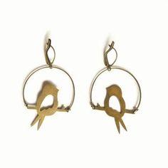Birds Earrings now featured on Fab.