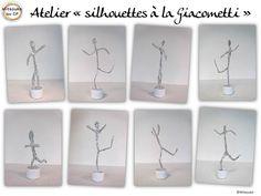 Atelier silhouettes fil de fer - Mitsouko au CP                                                                                                                                                                                 Plus