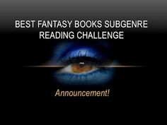ANNOUNCEMENT: BEST FANTASY BOOKS SUBGENRE READING CHALLENGE!