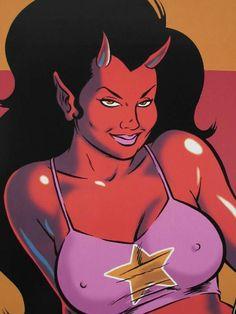 Devil Girl Art by Coop Cartoon Costumes, Demon Girl, Lowbrow Art, Sexy Cartoons, Pin Up Art, Erotic Art, Dark Art, Cartoon Art, Art Girl