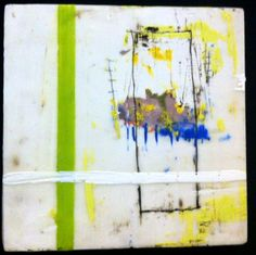 encaustic and mixed media by Amy Weil