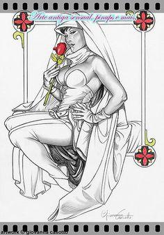 Arte antiga sensual, pinups e mais. | portfólio- Giovanna Casotto.