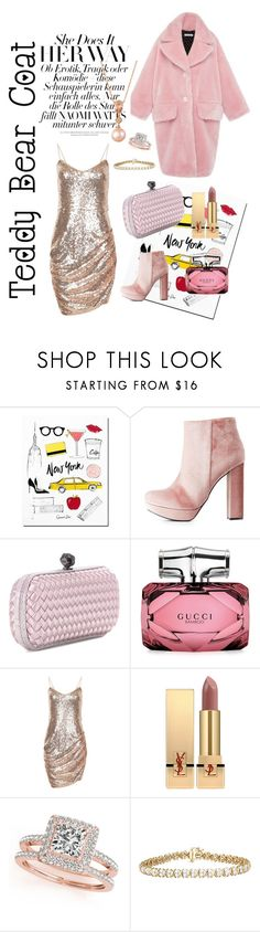 """All about pink"" by fannyfelia on Polyvore featuring Charlotte Russe, Bottega Veneta, Gucci, VIVETTA, Yves Saint Laurent, Allurez and LE VIAN"