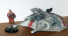 [New Paper Craft] Star Wars – T-47 Airspeeder (Snowspeeder) Ver.3 Free Papercraft Download at PaperCraftSquare.com   Papercraftsquare - free papercraft download