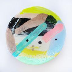 Hand Painted Medium Ceramic Dish 11