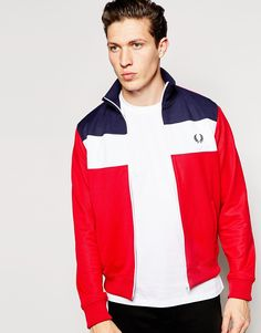 Fred Perry Track Jacket with Colour Block