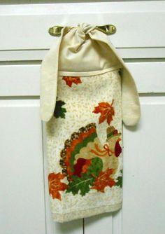 Kitchen Hand Towel Hanging Towel Towel With Ties Tie By AkornShop,