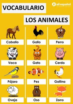 Learn new Spanish vocabulary everyday and make progress with AIL Malaga Spanish Language school. Practice Spanish from the beginners to the advanced level. Spanish Notes, Spanish Phrases, Spanish Grammar, Spanish Vocabulary, Simple Spanish Words, Study Spanish, Spanish Sayings, Vocabulary Games, Spanish Lessons For Kids