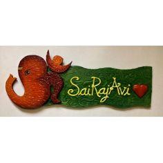 Name plate Om Ganesha