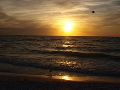 Sunset on the Gulf at Clearwater Beach, FL
