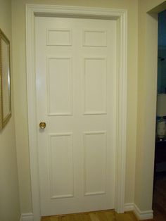 Add moulding to hollow core doors. Make my ugly doors look pretty without spending a fortune!