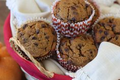 #paleo Chocolate Chip Pumpkin Muffins