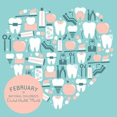 Help us celebrate National Children's Dental Health Month by brushing and flossing 2 times every day or at least 2 minutes! - Kool Kids Dentist | Collinsville IL | http://ift.tt/1PQfehz