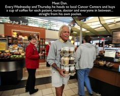 Dan and his coffee runs. | 35 Pictures That Prove The World Isn't Such A Bad Place