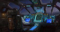 "ArtStation - ""Enjoy the flight. Spaceship Interior, Spaceship Art, Spaceship Design, Futuristic Art, Futuristic Technology, Bg Design, Starship Concept, Sci Fi Spaceships, New Retro Wave"