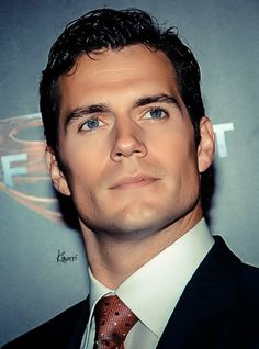 Henry Cavill - I do not like blue eyes, but man, what a contrast:) the lord has blessed this man...drool