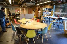 MakerSpace ideas!  My dream classroom is a big garage loaded with tools, design stations, drafting tables and NO desks