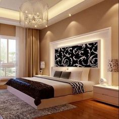 Ceiling design bedroom - New Step by Step Roadmap for Discover the Ultimate Master Bedroom Styles homedecorsdesign Bedroom False Ceiling Design, Luxury Bedroom Design, Bedroom Furniture Design, Master Bedroom Design, Home Decor Bedroom, Bedroom Ideas, Master Suite, Bedroom Designs, Budget Bedroom