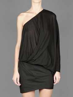 SS14 w/ Lost&Found Rooms asymmetric draped top