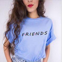 100% Cotton Women Friends TV T shirt White Womens T-shirt Tee girl Tshirt 19bcff842e96