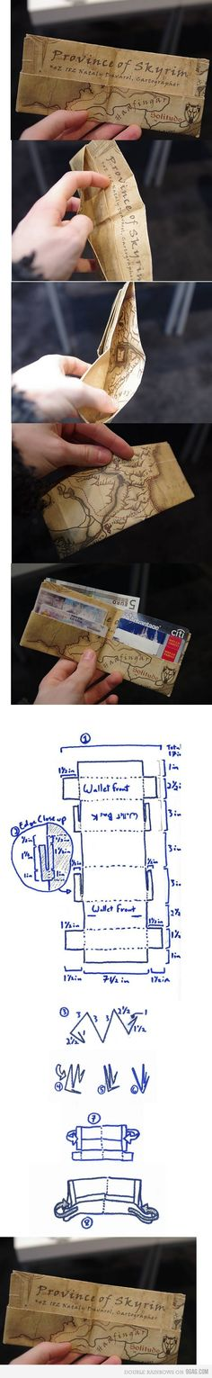 Just a Skyrim DIY Wallet- great for travelers who may go into risky places #diy