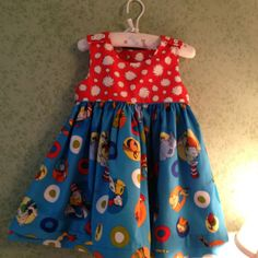 Dr Seuss dress I made for my granddaughter. I used Children's Corner Pattern Mattie. Great pattern and easy to make
