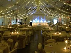 machine shed transformed in to wedding reception