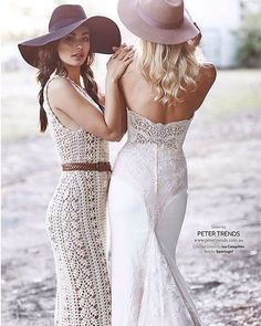 I have styled my handmade Crochet Wedding Dresses in many different ways, but MODERN WEDDING MAGAZINE definitely mastered the country style! Loving the hats... Thank you so much for this beautiful shot to the team and other vendors. #slowfashion  As seen in Modern Wedding Magazine www.modernwedding.com.au Photography: Lost in Love Photography Hair: Vanessa Henwood, The Bridal Hair Co  Makeup: Helen Samaryan Location: The Australiana Pioneer Village Hats: Lack of Colour