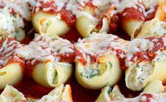 Chicken & Spinach Stuffed Shells