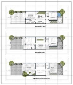 Tìm thầu xây dựng nhà vườn 6x25 m2 Duplex Floor Plans, Modern Floor Plans, House Floor Plans, Family House Plans, Cottage House Plans, Small House Plans, Modern Townhouse, Townhouse Designs, Small House Interior Design
