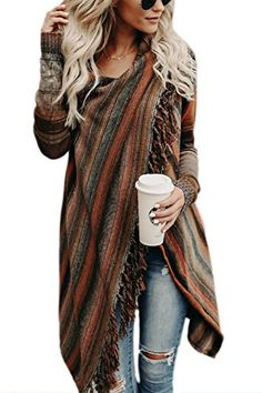Cute and cozy for autumn! Single Button Tassel Asymmetrical Hem Shawl-Brown fall fashion can't miss it outifit travel trend best selling online store Mode Outfits, Casual Outfits, Fashion Outfits, Womens Fashion, Fashion Trends, Ladies Fashion, Fashion Ideas, Swag Fashion, Fashion 2015