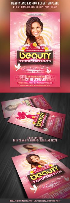 Beauty and Fashion Party Flyer on Behance