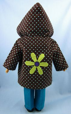 American Girl Doll Clothes Hooded Jacket in by SewMyGoodnessShop