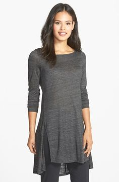 Free shipping and returns on Eileen Fisher Ballet Neck Tunic (Regular & Petite) at Nordstrom.com. An effortlessly elegant tunic is crafted from a lightweight mélange knit and modernized with a swingy, vented high/low hem. A ballet neck and long sleeves detail the flattering style.
