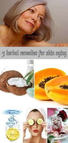 5 herbal remedies for skin aging