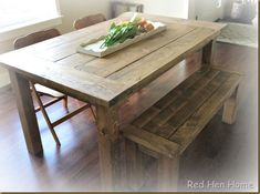 Easy DIY Dining Table | ... to have an empty dining room so I can have revolving dining tables
