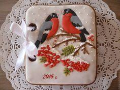 Купить Открывающаяся пряничная открытка - красный, имбирные пряники, новогодний подарок, новогодний сувенир