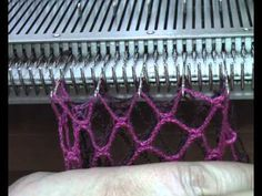 азиатский колосок Machine Knit Fern Lace Demo by Diana Sullivan - YouTube