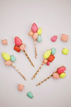 DIY gemstone bobby pins! #diy #beauty #bobbypins