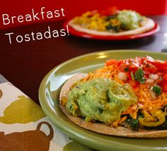 Think of these breakfast tostadas as a sort of spin on huevos rancheros.