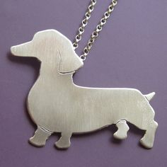 Dachshund Necklace by sudlow on Etsy @marcie marshall Struble