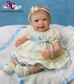 Share smile after smile with the Precious in Pearls Baby Doll by Master Doll Artist Linda Murray, specially created to commemorate Ashton-Drake's 30th anniversary!