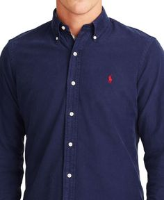 Polo Ralph Lauren Oxford Shirt Men - Casual Button-Down Shirts - Macy s b9e6041067e