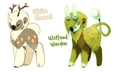 (CLOSED) White Hanami and Wetland Warden by Jeniak.deviantart.com on @DeviantArt